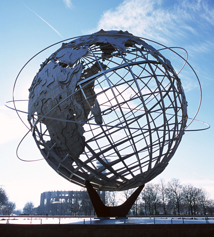 地球仪雕塑006